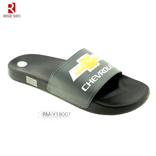 Promotional custom logo men's PVC slide slippers
