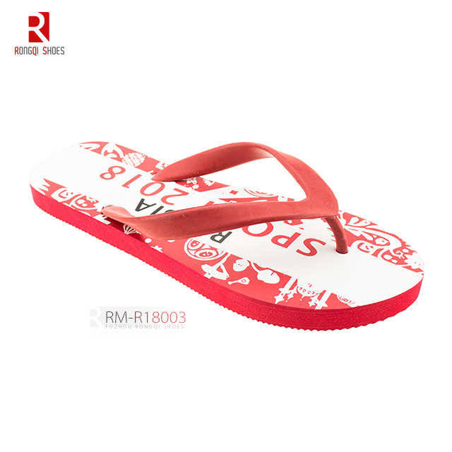 Gift promotional world cup men's EVA flip-flops