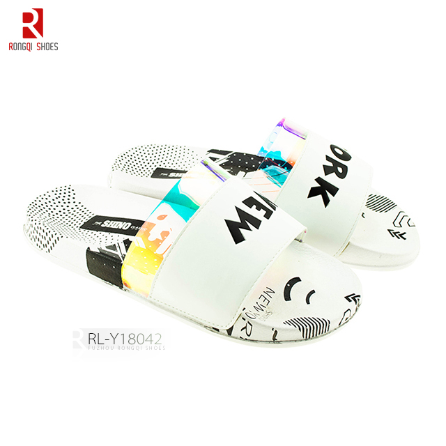Custom design ladies casual EVA soft promotion fashion slider slippers