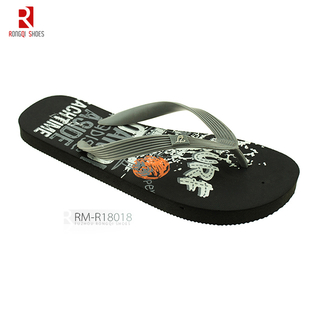 Men's metal chain V-strap upper beach PE slider flip-flops