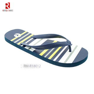 PVC Braid V-strap and PE Outsole Men's Flip-flops
