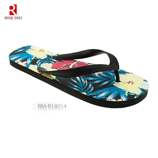 Molded PE outsole men's beach flip-flops