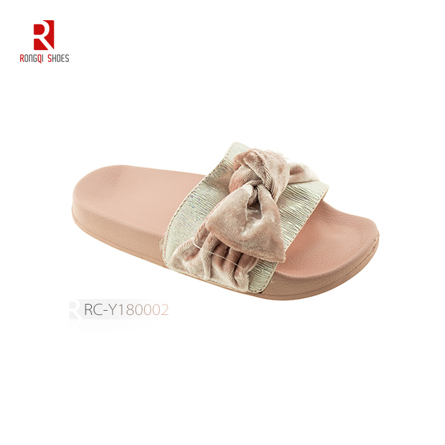 Pink bowknot children's slipper