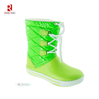 Children Rubber Rain Boots Fashion Lace Waterproof Customized Kids Rubber Rain Shoes