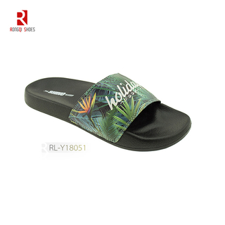 Wholesale fancy outdoor and indoor women EVA slides print logo customized