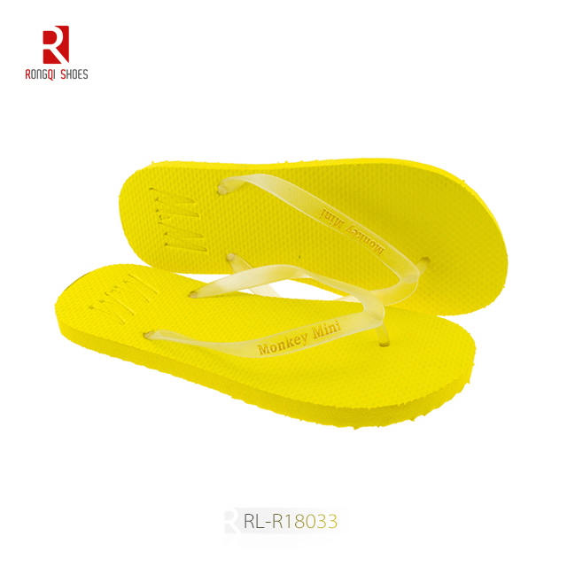 Cheap wholesale solid color unisex customized beach PE flip flops